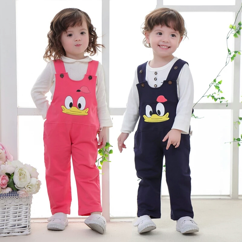 男女宝宝纯棉薄款连体裤可开档0-1-3岁婴儿春秋裤子